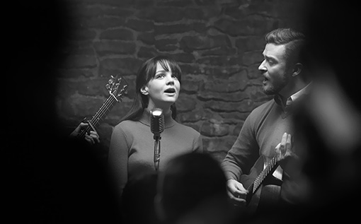 INSIDE LLEWYN DAVIS (2013) Carey Mulligan and Justin Timberlake.